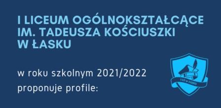 Oferta edukacyjna na rok szkolny 2021/2022