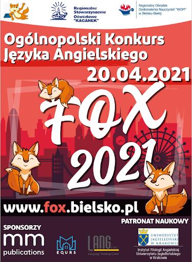 Ogólnopolski Konkurs Języka Angielskiego Fox.